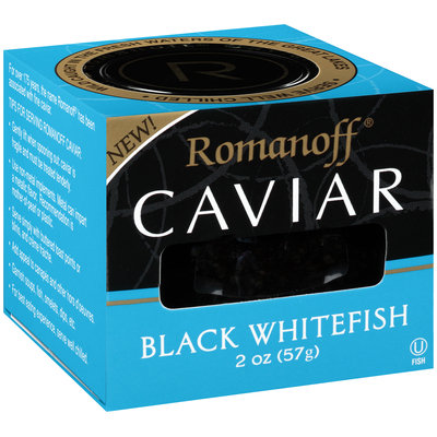 Romanoff® Black Whitefish Caviar 2 oz. Jar