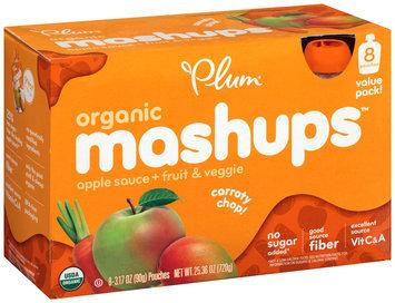 Plum Organics® Mashups™ Fruit & Veggie Carroty Chop Apple Sauce 8-3.17 oz. Pouches