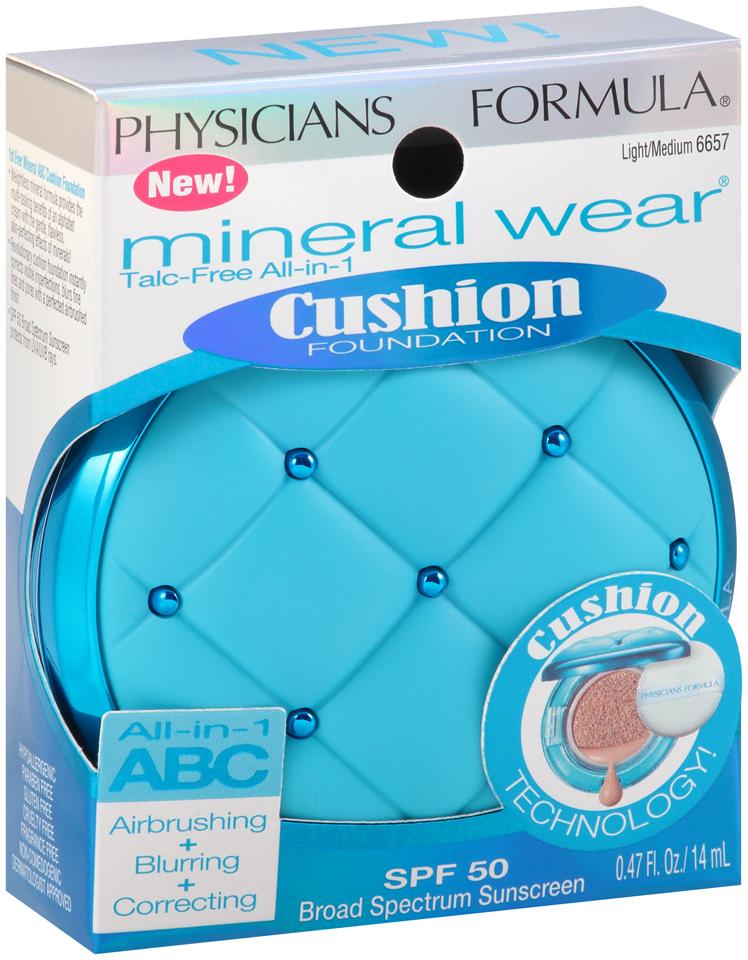 Physicians Formula® Mineral Wear® Talc-Free All-in-1 Cushion Foundation Light/Medium 6657 0.47 fl. oz. Box