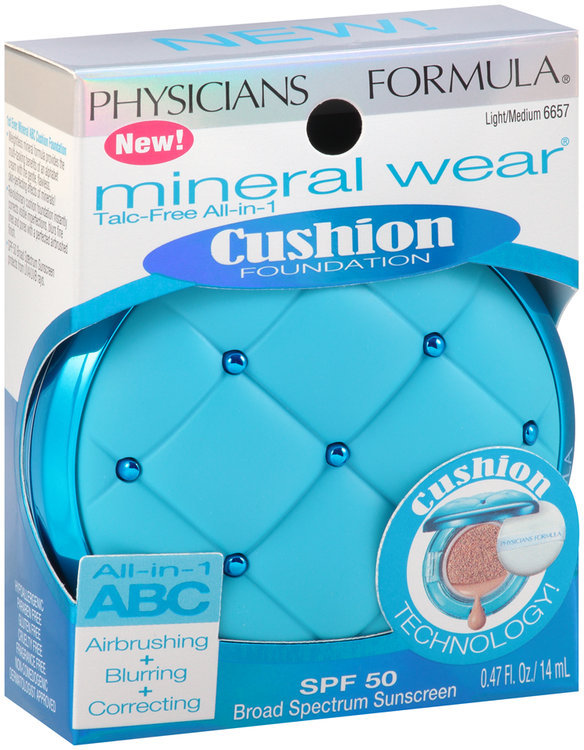 Physicians Formula Mineral Wear Talc Free All In Cushion Foundation Light 6656
