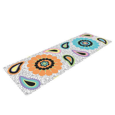 Kess Inhouse Moda Paisley by Nina May Paisley Flower Yoga Mat
