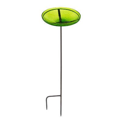 ACHLA Designs CGB-S-14FG Fern Green Crackle Bowl w/ Stand
