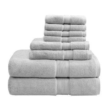 Madison Park Signature 800 GSM Cotton 8 Piece Towel Set Color: Silver