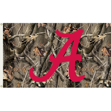 BSI Products Alabama Crimson Tide Flag with Grommets - Realtree Camo Background