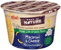 Back to Nature Microwaveable Macaroni & Cheese Dinner