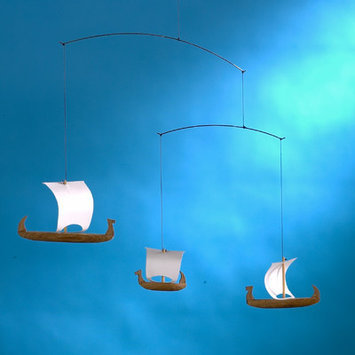 Flensted Mobiles Viking Mobile with Three Ships