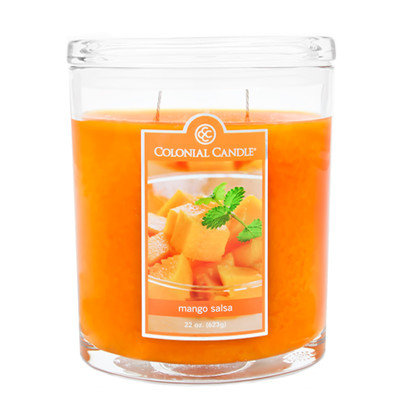 Fragranced in-line Container CC022.2073 22oz. Oval Mango Salsa Candles