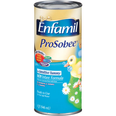 ENFAMIL PROSOBEE For Sensitive Tummy Ready to Use Soy Infant Formula 1 QT CAN