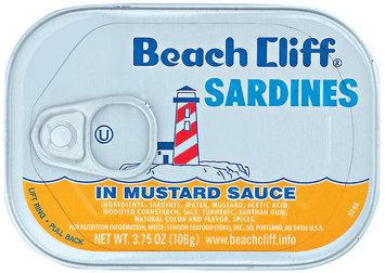 Beach Cliff In Mustard Sauce Sardines 3.75 Oz Tin