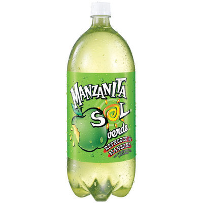 Manzanita Sol® Green Apple Soda 2L Plastic Bottle