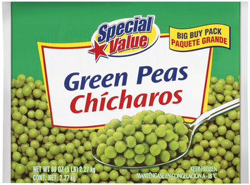 Special Value Green Peas 80 Oz Bag