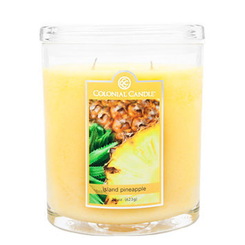Fragranced in-line Container CC022.1714 22oz. Oval Island Pineapple Candles