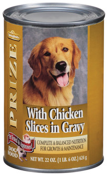 Springfield Prize W/Chicken Slices In Gravy Dog Food 22 Oz Can