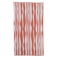 Sferra Ridges Beach Towel Color: Salmon