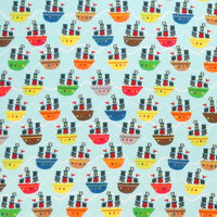 Stwd Pirate Ships Fitted Cradle Sheet Color: Aqua