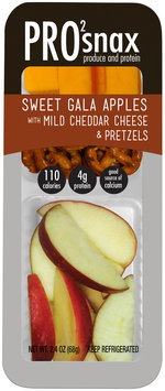 Pro2Snax Sweet Gala Apples with Mild Cheddar Cheese & Pretzels Single Serve Produce & Protein Snack 2.5 oz. Pack