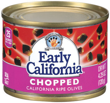 EARLY CALIFORNIA Chopped California Ripe Olives 4.25 OZ CAN