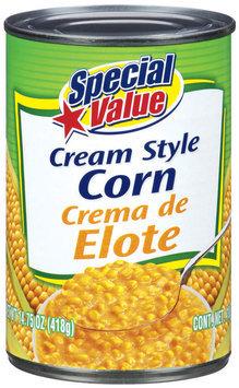 Special Value Cream Style Corn 14.75 Oz Can