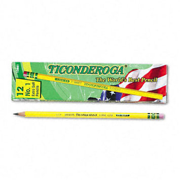 Dixon Ticonderoga Co. Dixon Ticonderoga Yellow Woodcase Pencil, 12 count