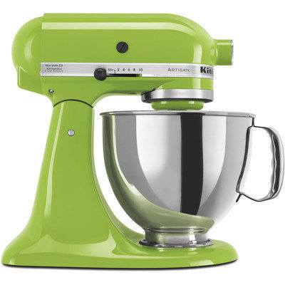 KitchenAid Artisan Series 5 qt. Stand Mixer in Green Apple with Additional Glass Bowl KSM150PSGA 3 KIT