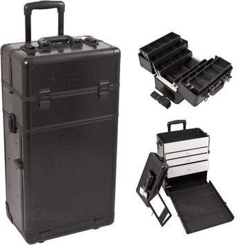 Just Case Sunrise I3463CRAB Black Crocodile Trolley Makeup Case