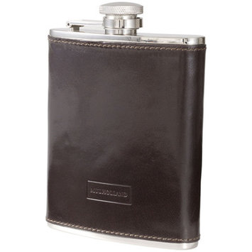 Mulholland Brothers 6oz Leather Captive Top Flask - Stout