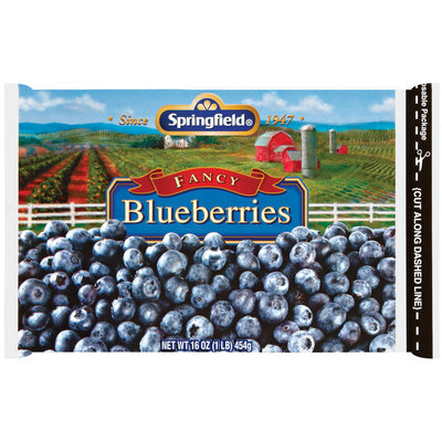 Springfield Fancy  Blueberries 16 Oz Bag