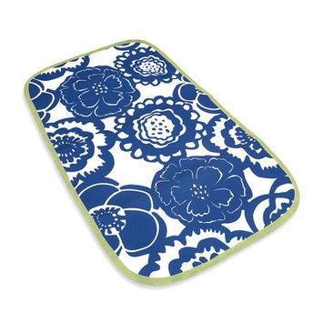 Ju Ju Be Changing Pad Memory Foam in Cobalt Blossoms