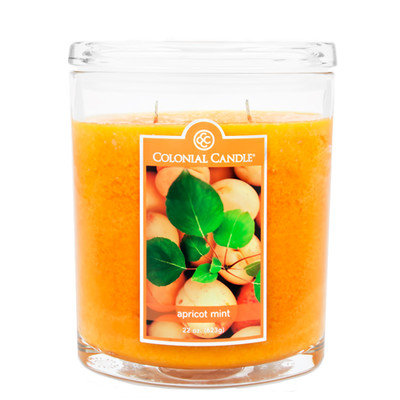 Fragranced in-line Container CC022.2176 22oz. Oval Apricot Mint Candle