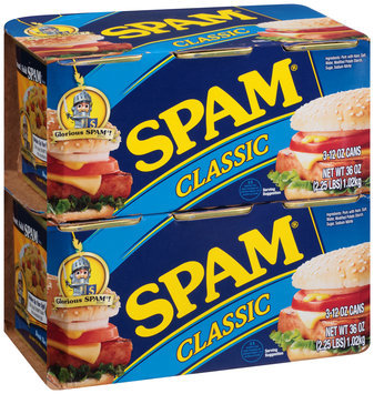 Spam® Classic Canned Meat 3-12 oz. Cans