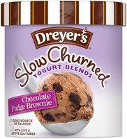 DREYER'S/EDY'S Slow Churned Chocolate Fudge Brownie Yogurt Blends 1.5 qt. Carton