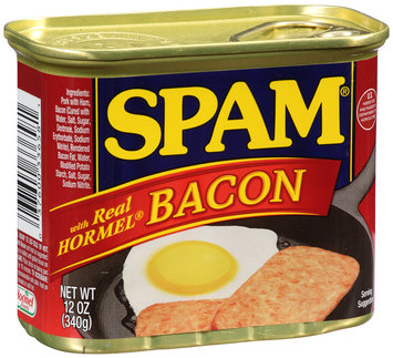 SPAM® with Real Hormel® Bacon Canned Meat 12 oz. Can