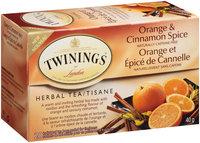 Twinings of London® Orange & Cinnamon Spice Herbal Tea 20 ct Box