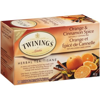 Twinings of London® Orange & Cinnamon Spice Herbal Tea 20 ct Box