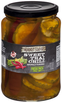 Market Stand® Sweet Thai Chili Fresh Pack Pickle Chips 24 fl. oz. Jar
