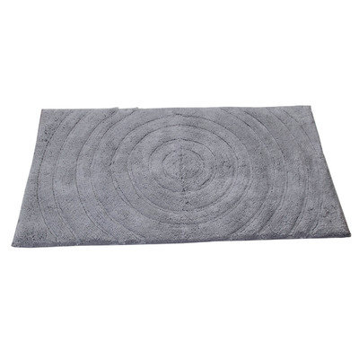 Textile Decor Castle Castle Hill 100% Cotton Echo Spray Latex Back Bath Rug, 24 H X 17 W, Silver
