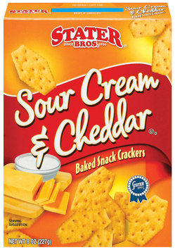 Stater Bros. Sour Cream & Cheddar Baked Snack Crackers 8 Oz Box