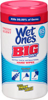 Wet Ones® Big Ones® Extra Thick Antibacterial Fresh Scent Hand Wipes 65 ct Canister