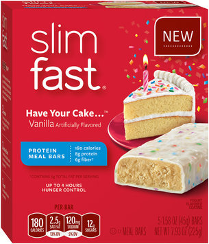 SlimFast Have Your Cake Vanilla Meal Bars