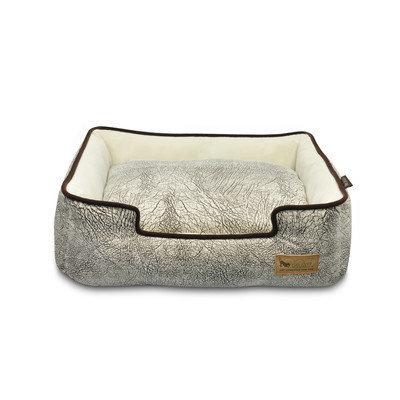 PLAY Savannah Grey Lounge Dog Bed Small