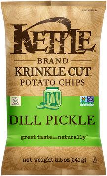 Kettle Brand® Krinkle Cut™ Dill Pickle Potato Chips 8.5 oz. Bag