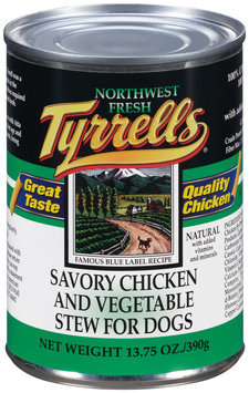 Tyrrells® Savory Chicken and Vegetable Stew for Dogs 13.75 oz. Can