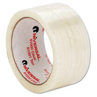 Universal Box Sealing Tape, 2 x 110yds, 3 Core, Clear, 6/Pack