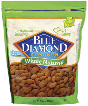 Blue Diamond Whole Natural Almonds 32 Oz Stand Up Bag