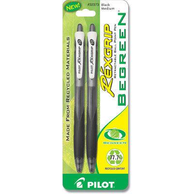 Pilot 2 Count RexGrip Begreen Ballpoint Retractable Pen