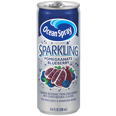 Ocean Spray Sparkling Pomegranate Blueberry Fruit Juice Drink 8.4 Oz Can