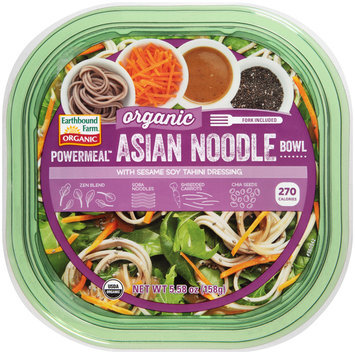 Earthbound Farm® Powermeal™ Organic Asian Noodle Bowl with Sesame Soy Tahini Dressing 5.58 oz. Container