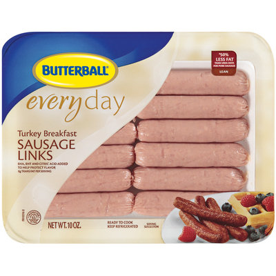 Butterball® Everyday Lean Turkey Sausage Breakfast Links 12 Pack Tray
