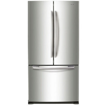 Samsung Refrigerator. 33 in. W 17.5 cu. ft. French Door Refrigerator in Stainless Steel, Counter Depth RF18HFENBSR