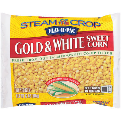 Flav-R-Pac® Steam of the Crop™ Gold & White Sweet Corn 12 oz. Bag